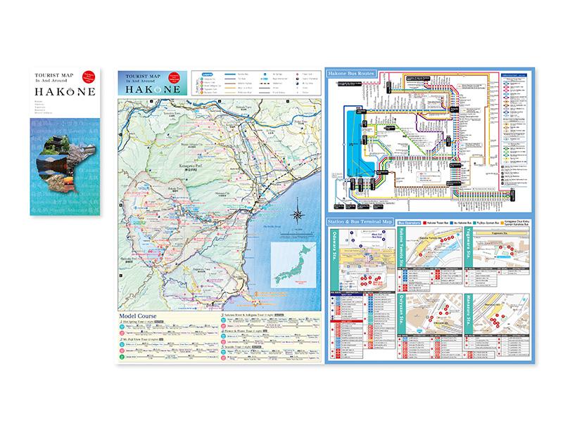 西さがみ地域観光マップ(英語版)