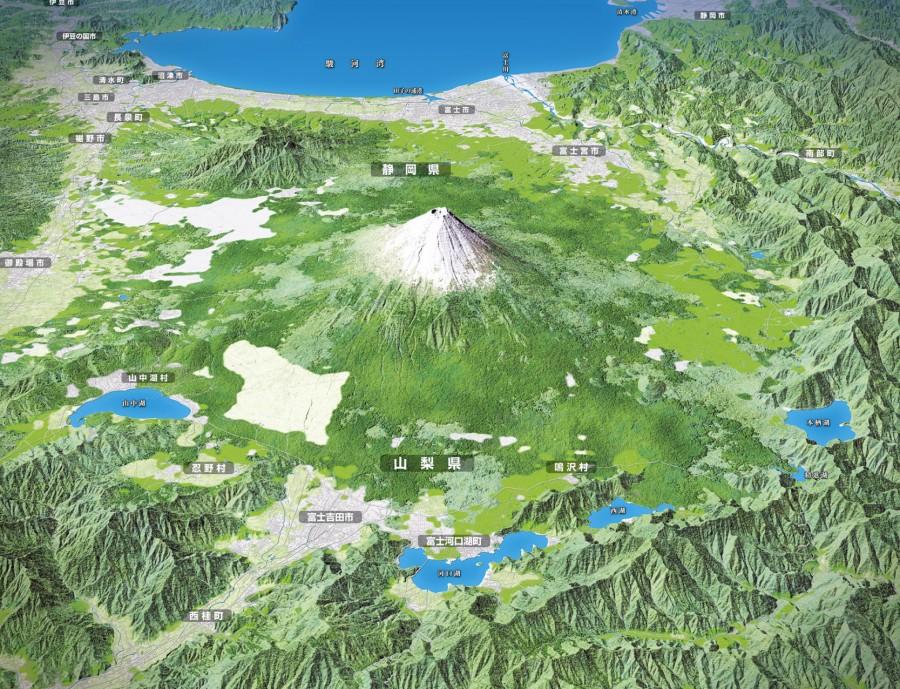富士山周辺鳥瞰図